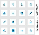 medicine colorful icons set.... | Shutterstock .eps vector #641372809