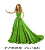 woman green dress  fashion... | Shutterstock . vector #641373658