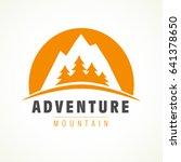 mountain rock and pines outdoor ... | Shutterstock .eps vector #641378650