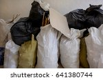 bags with construction waste... | Shutterstock . vector #641380744