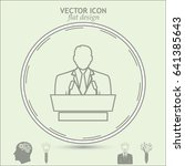 line icon  speaker icon. orator ... | Shutterstock .eps vector #641385643