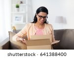 people  delivery  shipping and... | Shutterstock . vector #641388400