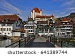 castle thun. thun   popular... | Shutterstock . vector #641389744