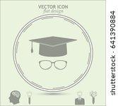 graduation cap vector icon  | Shutterstock .eps vector #641390884