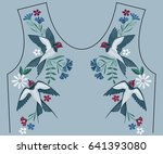embroidery stitches with... | Shutterstock .eps vector #641393080