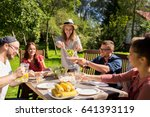 leisure  holidays  eating ... | Shutterstock . vector #641393119