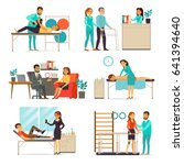 rehabilitation and therapy set... | Shutterstock .eps vector #641394640