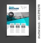 blue brochure template for... | Shutterstock . vector #641398198