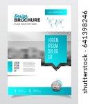 blue brochure template for...   Shutterstock . vector #641398246