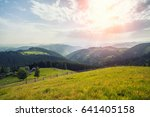 beautiful sunny day is in... | Shutterstock . vector #641405158