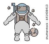 astronaut icon   Shutterstock .eps vector #641408413