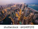 dubai skyline  skyscrapers.... | Shutterstock . vector #641409193