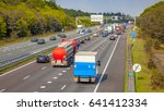 right hand side evening freeway ... | Shutterstock . vector #641412334