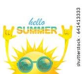 hello summer funky rock n roll... | Shutterstock .eps vector #641413333