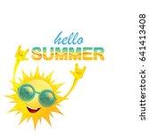 hello summer funky rock n roll... | Shutterstock .eps vector #641413408