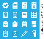 list icons set. set of 16 list... | Shutterstock .eps vector #641413549