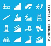 staircase icons set. set of 16... | Shutterstock .eps vector #641413666