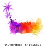 abstract painted splash shape... | Shutterstock .eps vector #641416873