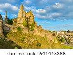 chateau de bressuire  a ruined... | Shutterstock . vector #641418388