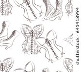retro fashion seamless pattern... | Shutterstock .eps vector #641418994