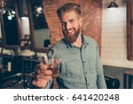 casual men s life. cheers ... | Shutterstock . vector #641420248