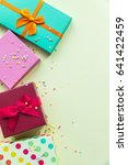 holidays giftboxes on the... | Shutterstock . vector #641422459