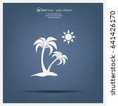 exotic island web icon. vector... | Shutterstock .eps vector #641426170