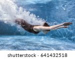 woman goes in for sports in the ... | Shutterstock . vector #641432518