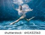Woman Dances Underwater Sports...