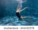 woman shows beautiful postures... | Shutterstock . vector #641432578