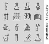 lab icons set. set of 16 lab... | Shutterstock .eps vector #641436349