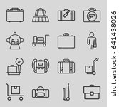 luggage icons set. set of 16... | Shutterstock .eps vector #641438026