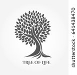 tree with roots icon or logo.... | Shutterstock .eps vector #641438470
