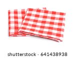 two textile napkin in the red... | Shutterstock . vector #641438938