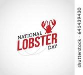 national lobster day vector...   Shutterstock .eps vector #641439430