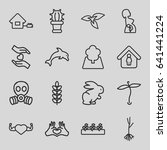 life icons set. set of 16 life... | Shutterstock .eps vector #641441224