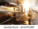 sunflower oil in the bottle... | Shutterstock . vector #641442280