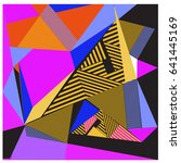 vector of triangle geometric... | Shutterstock .eps vector #641445169