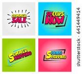 summer  spring  winter sticker... | Shutterstock .eps vector #641449414