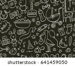 hand drawn seamless pattern... | Shutterstock .eps vector #641459050