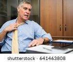 businessman sweating in his... | Shutterstock . vector #641463808
