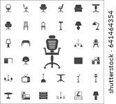 office chair icon. set of... | Shutterstock .eps vector #641464354