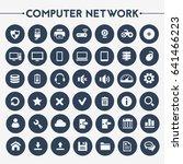 big computer networks icon set