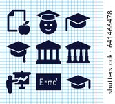set of 9 university filled... | Shutterstock .eps vector #641466478