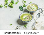 spring broccoli green cream... | Shutterstock . vector #641468074