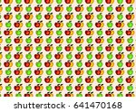 apple flat seamless pattern.... | Shutterstock .eps vector #641470168