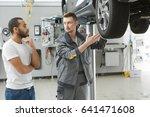 professional auto mechanic... | Shutterstock . vector #641471608