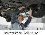 professional auto mechanic... | Shutterstock . vector #641471653