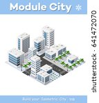 city three dimensional winter... | Shutterstock . vector #641472070