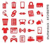 internet icons set. set of 25... | Shutterstock .eps vector #641486998